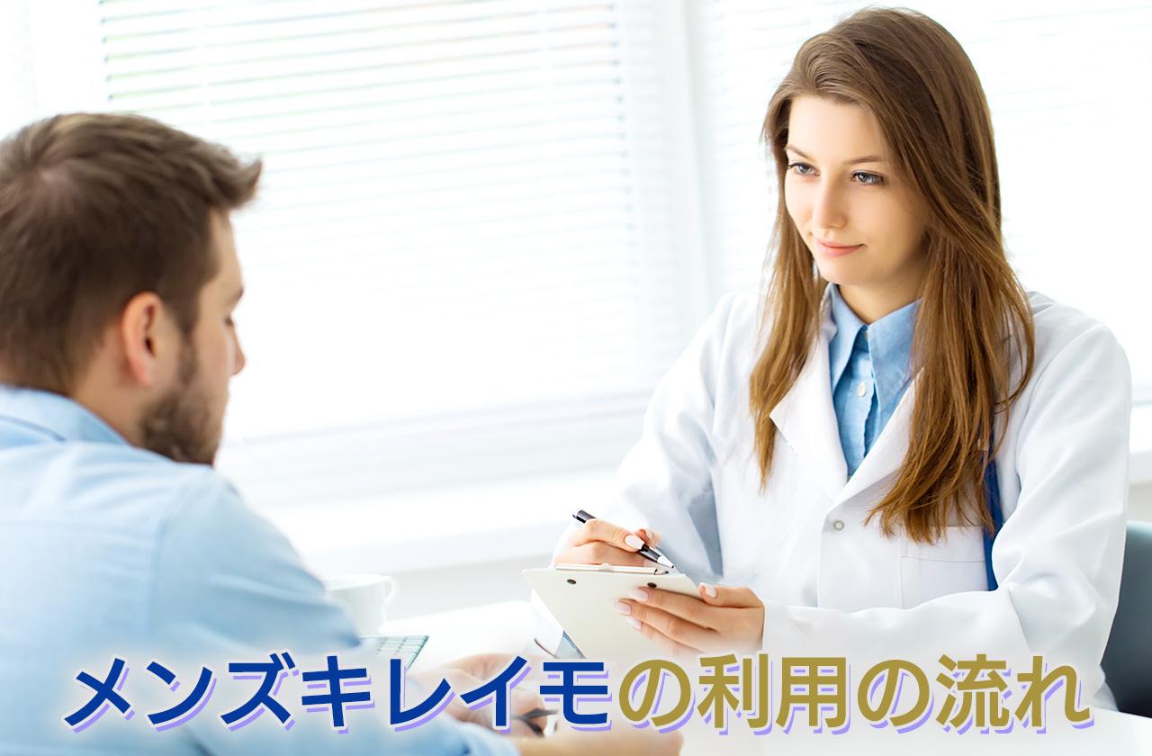 MEN'S KIREIMO(メンズキレイモ)の利用の流れ